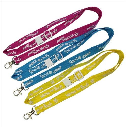 Silkscreen Printed lanyards and retractable badge holders